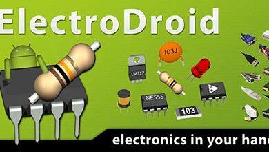 تصویر از اپلیکیشن مجموعه ابزارهای الکترونیک اندروید – ElectroDroid