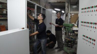 تصویر از مونتاژ تابلوهای برق فشار ضعیف