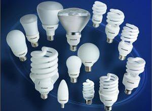 تصویر از انواع لامپ ها و محاسبات آن